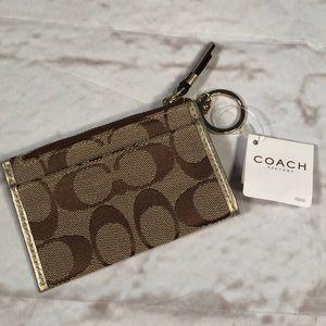 Coach mini wallet keychain.  New!  NWT!